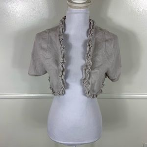 Knitted & Knotted Gray Cropped Bolero Medium